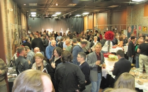 A typical art auction reception