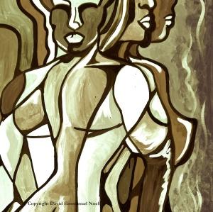 Man & Woman (monochromatic)