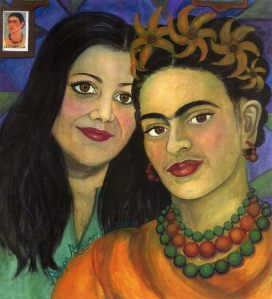Painting of Frida Kahlo & Roopa