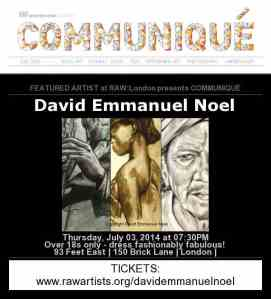 David Emmanuel Noel RAW flyer