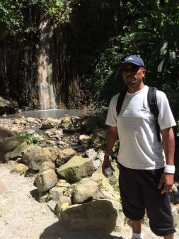Taking time to visit Sulphur Springs in Soufriere