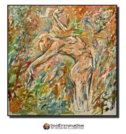 david emmanuel noel, art by david emmanuel noel, figurative art, acrylic paintings, British artists, London Artists, New York Artists, Black British Art, Black Artists, Black Painters, Black Visual Artists