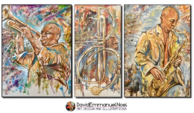 David Emmanuel Noel, Art by David Emmanuel Noel, Jazz & Art, Pictures at an African Exhibition, Darryl Yokley