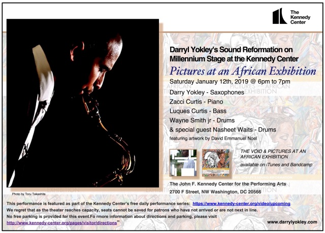 Pictures at an African Exhibition at the Kennedy Center, Darryl Yokley, David Emmanuel Noel, David Emmanuel Noel Art, British Artist David Emmanuel Noel, Kennedy Center, Kennedy centre, Art Exhibition, David Emmanuel Noel New York, New York Artist David Emmanuel Noel, British Artists, Darryl Yokley's Sound Reformation,