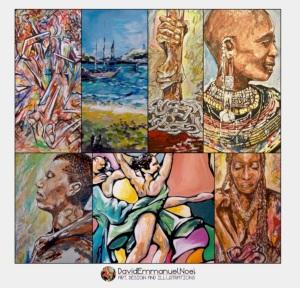 David Emmanuel Noel, Art for sale, Black British Visual Artists, Black art for sale, African art, African paintings, Black British Artists, Caribbean Artists, Caribbean art for sale, David Emmanuel Noel Painter, David Emmanuel Noel Art,